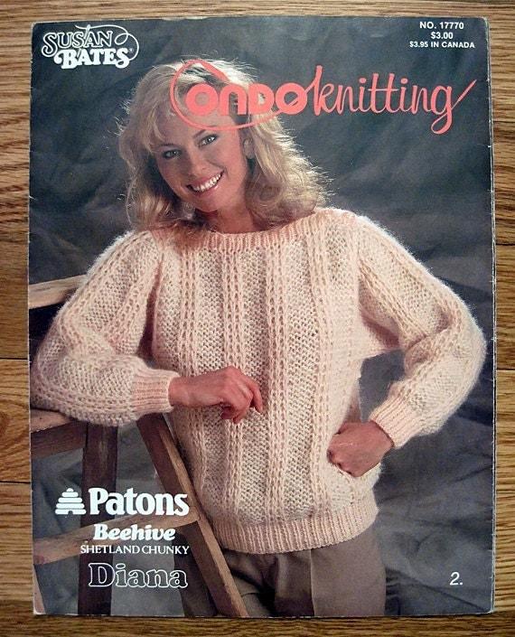 Susan Bates Condoknitting Sweaters and Afghan