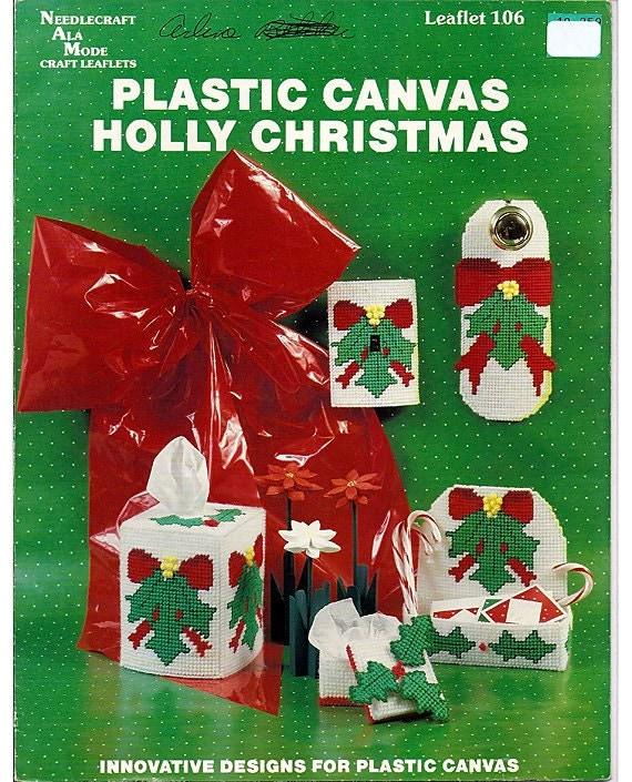 Holly Christmas Plastic Canvas Pattern Book - Needlecraft Ala Mode 106