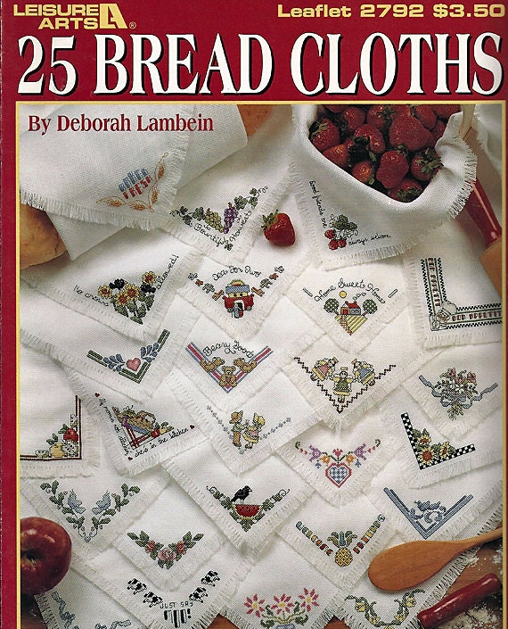 Jan Hagara Cross Stitch Patterns: 25 Bread Cloths Cross Stitch Pattern Leaflet 2792 Leisure Arts