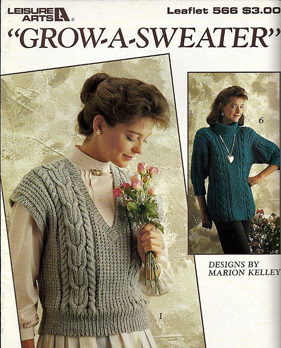 Grow A Sweater - Knit Pattern - Leisure Arts 566