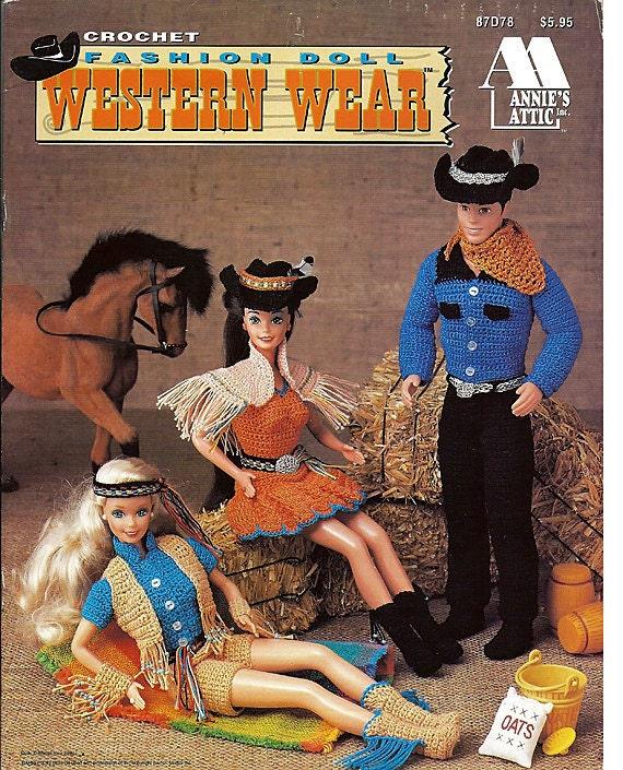 Fashion Doll Western Wear Crochet Barbie By Grammysyarngarden
