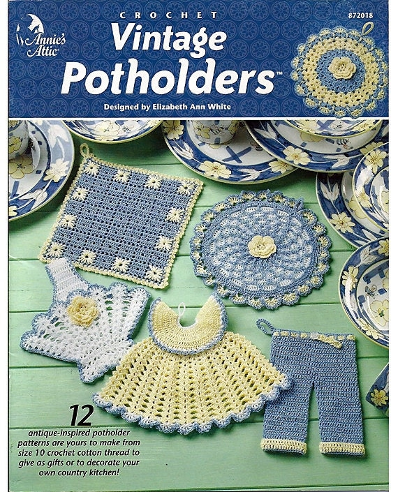 Annies Crochet Patterns : Vintage Potholders Crochet Pattern Annies by grammysyarngarden