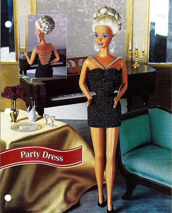 Party Dress Crochet Pattern Annies Fashion Doll Crochet Club