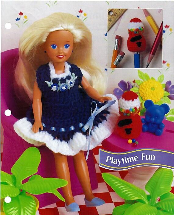 "Playtime Fun Jumper for 7 1/2"" fashion Doll Crochet Pattern Annies Fashion Doll Crochet Club FCC13-02"