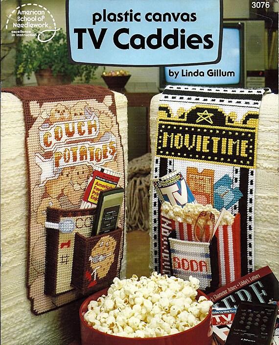 Plastic Canvas TV Caddies Pattern American School Of Needlework 3076