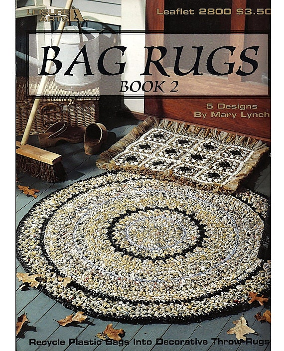 Crocheting Rugs Book : Bag Rugs Book 2 Crochet Pattern Leisure Arts by grammysyarngarden