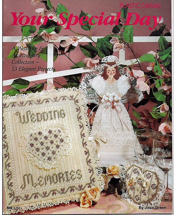 Your Special Day Plastic Canvas Patterns for Weddings & Anniversary Leisure Time  1751