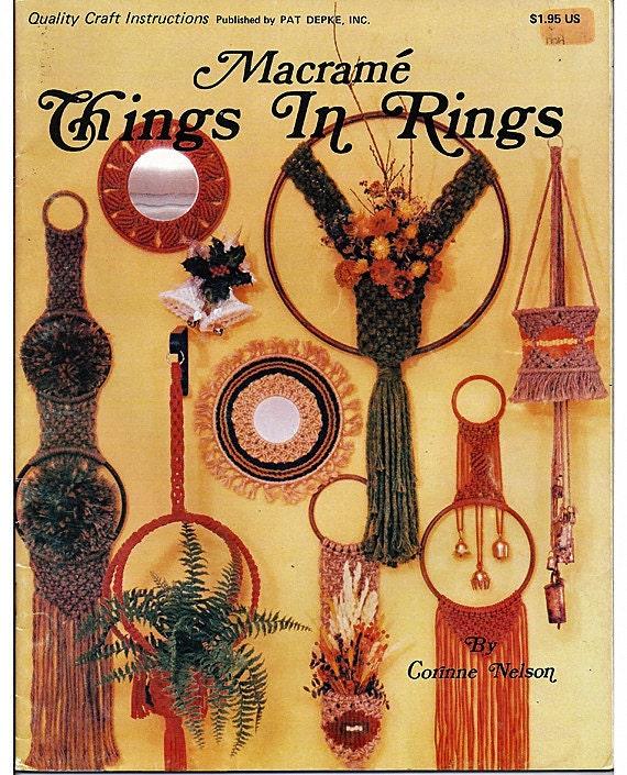 Macrame Things In Rings: Macrame Pattern Book PD-1121