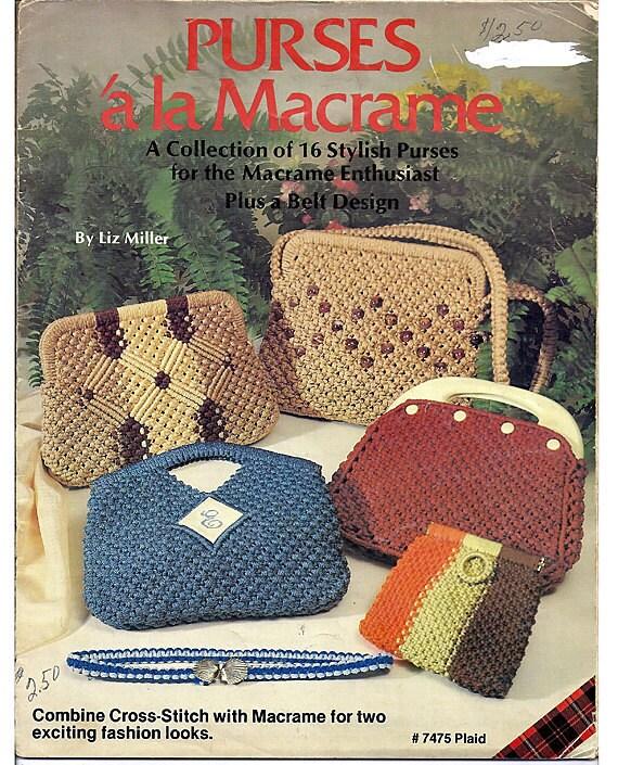 Purses A La Macrame Pattern Book from Plaid No. 7475