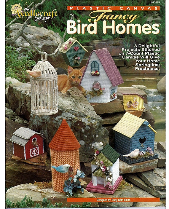 Fancy Bird Homes Plastic Canvas Pattern  The Needlecraft Shop 913326