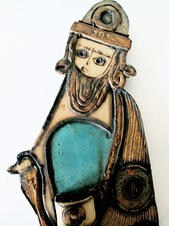Mid Century Italian Art Pottery Candle Holder