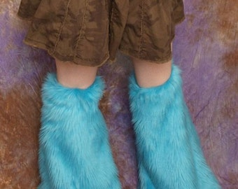 Solid Color Furry Leg Warmers