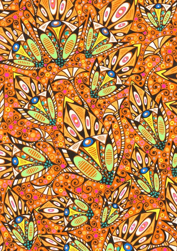 Romantic stylized floral pattern art nouveau style original - Papier peint art nouveau ...