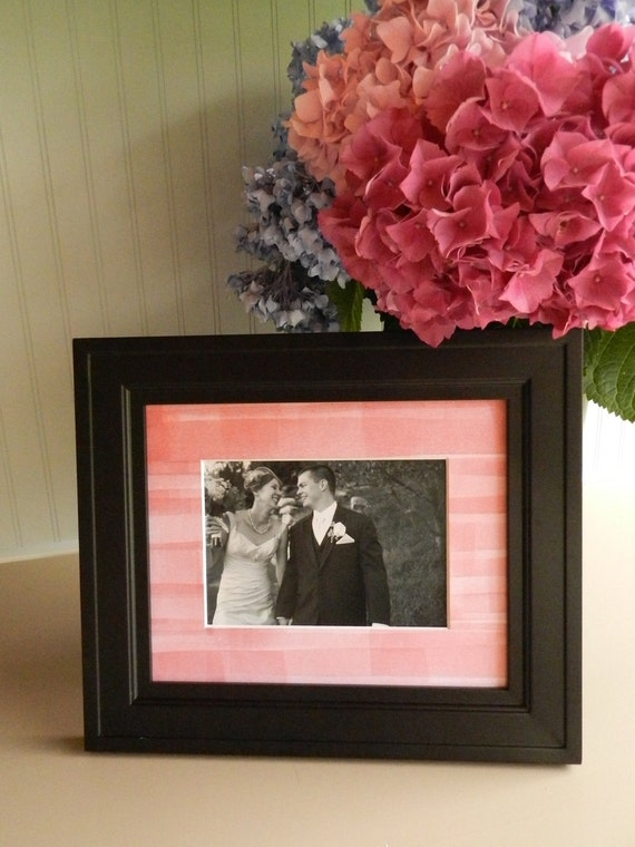Customizable Picture Frame Mat with Hand-rolled Letterpress Ink