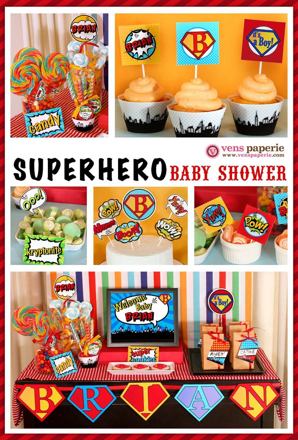 Baby Shower Decorations Superhero ~ Chandeliers pendant lights