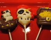 Pirate Chocolate Lollipops