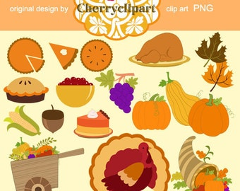 Thanksgiving Dinner - Personal and Commercial Use - paper crafts, card making, scrapbooking
