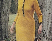 No.100 Knitting Pattern PDF Vintage For Women - Textured Hooded Dress - Sizes 10, 12, 14, 16 - Instant Download