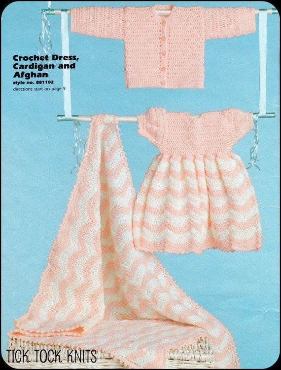 Vintage Crochet Baby Dress Pattern : No.73 PDF Vintage Crochet Pattern Baby Girls Dress