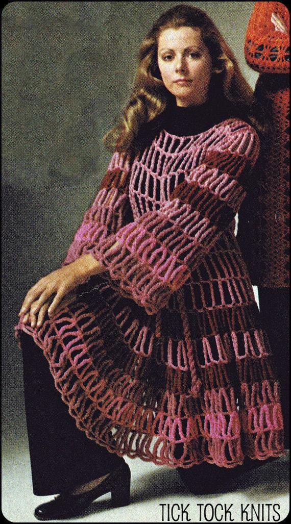 No.140 PDF Vintage Crochet Pattern Women's Unusual Cage