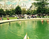 Boats And Carrousel In The Tuilieries Garden - Paris, France - Paris Fine Art Photography - 8x10 Print