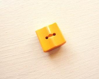 vintage butterscotch square bakelite button