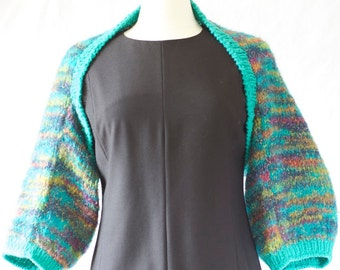 Warm hand knitted bolero shrug