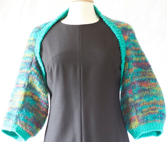 Warm hand knitted bolero shrug