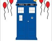 TARDIS Doctor Who Birthday Card