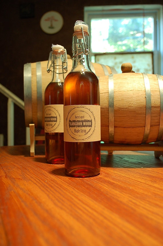 2 Bottles of Barrel Aged Maple Syrup