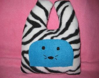 SALE Aqua Zebra Bunny- Baby Shower - Nursery Decor