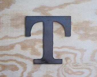 "Metal letter ""T"""