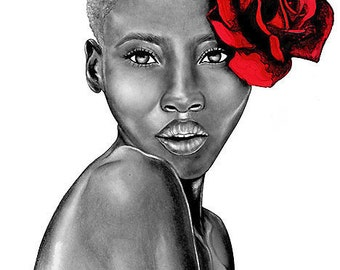 Limited Time - 8.5x11in Art Print - The Beauty Collection - Uzuri (Red)