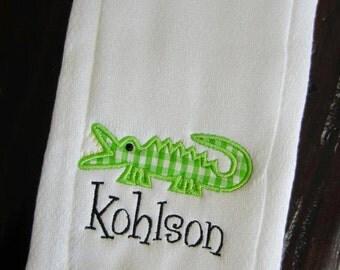 Alligator Burp Cloth or Bib