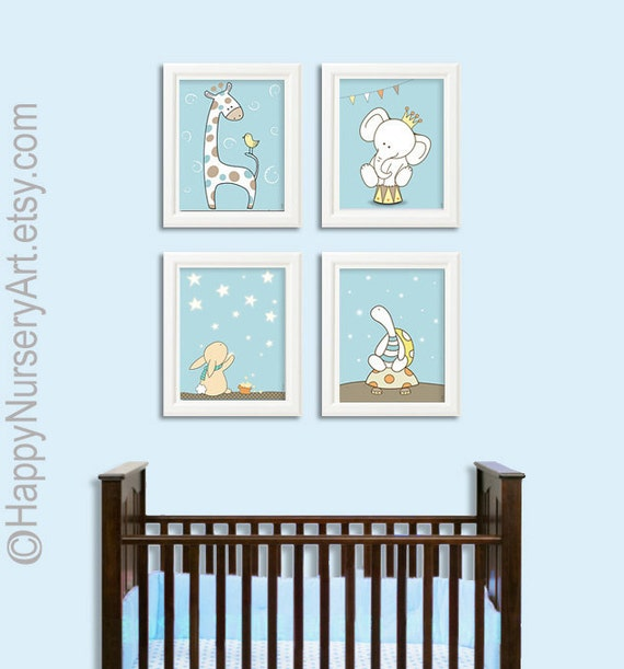Baby Boy Wall Art boys nursery art baby boy nursery art prints blue wall art