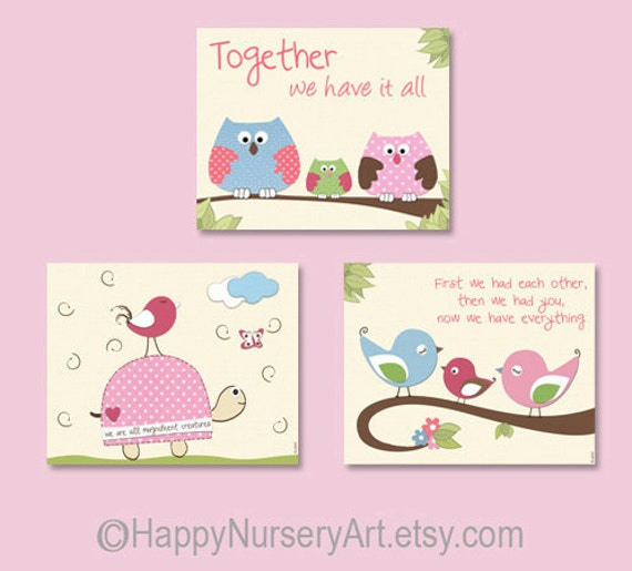 Girls Wall Art items similar to nursery wall art girl,nursery decor,girls nursery