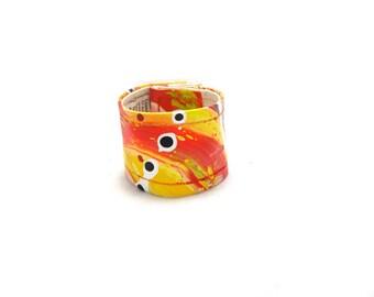 Fire Orange Cuff Wrist Band - Bright Orange Cuff - Wide Wrist Band - Kids Cuff - Kids Accessories - Kids Jewelry - Small Cuff - Hemp