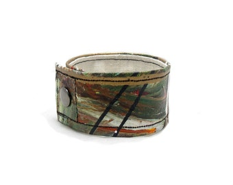 Earthy Brown Cuff Bracelet - Extra Large Wrist Band - Wide Cuff - Bracelet for Men - Mens Jewelry - Plus Size Jewelry - Bracelet for Dudes