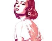 Confection - Vintage Styled Watercolor & Ink Fashion Illustration Print