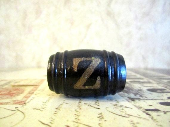 "Wine Bottle Stopper - Monogrammed ""Z"" Wine Stopper"