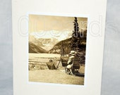 Set of 10 Banff Lake Louise Photo Cards - photo taken in 1947