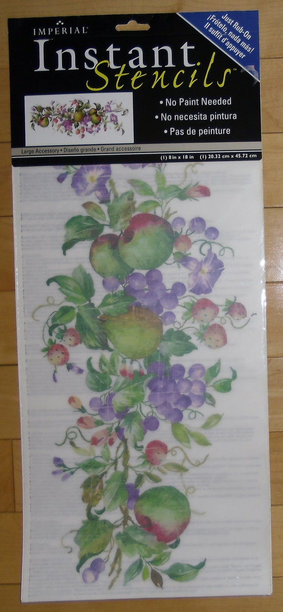 Instant Stencils For Walls : Stencils instant rub on fruit by imperial