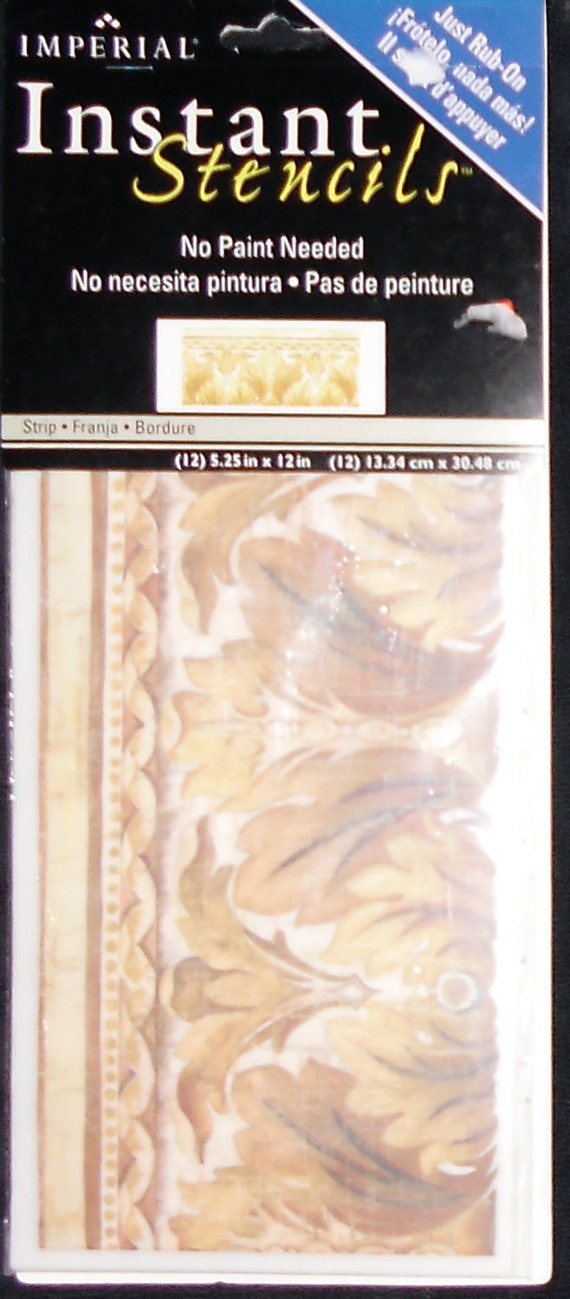 Instant Stencils For Walls : Stencils instant rub on gold filigree by imperial home decor
