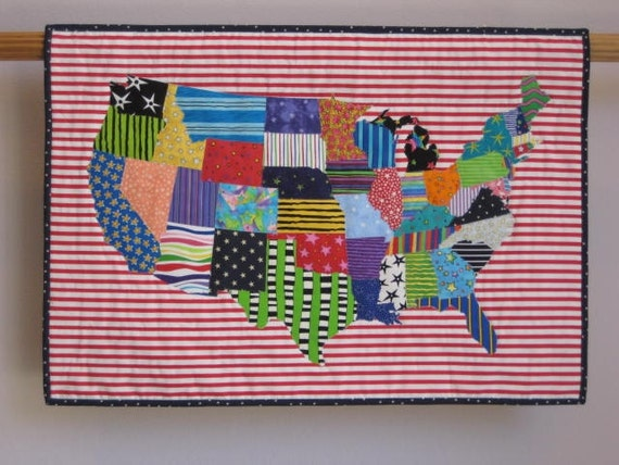 Stars & Stripes wall quilt
