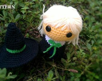 Elvina Witch (Halloween) - Amigurumi crochet pattern (PDF File)