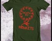 """Toy Story tshirt """"death by 12 monkeys"""" 12 monkeys tshirt mens tshirt"""