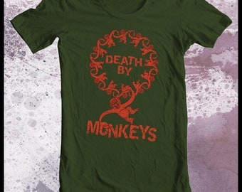 "Toy Story tshirt ""death by 12 monkeys"" 12 monkeys tshirt mens tshirt"