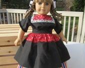 Deposit - Custom Listing for Lisa Volendam Dutch Costume for American Girl or 18-inch Doll