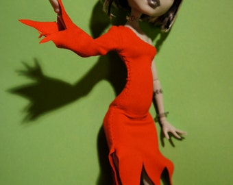 Monster High Kleidung zombie dress blood red