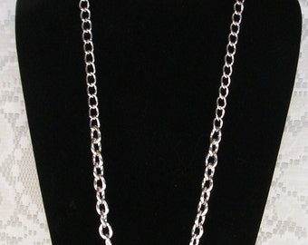Silver Chain Necklace Small Oval - Silver Necklace, Silver Chain Necklace for Interchangeable Charm Necklace or Charm Cluster